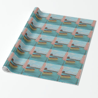 Yellow Canoe Large Wrapping Paper