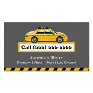Taxi business cards zazzle au yellow cap taxi driver chauffeur magnetic business card colourmoves