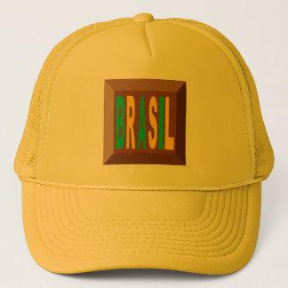 YELLOW   CAP   TRUCKER    BRASIL CHOCOLATE