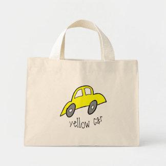 Yellow Car Tiny Tote Tote Bags