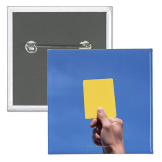 Yellow Card 15 Cm Square Badge