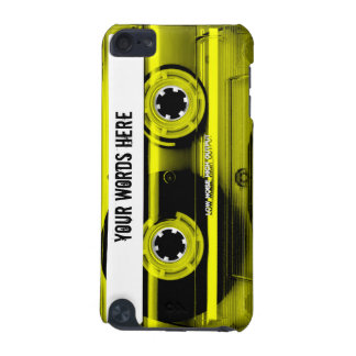 Yellow Cassette Tape Personalised iPod Touch 5G Cover