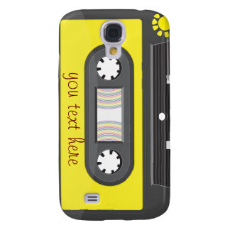 yellow cassette with rainbow tape galaxy s4 cases