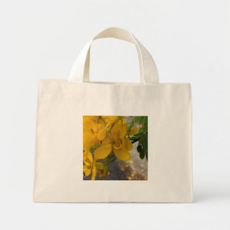 Yellow Cassia Flowers with Caterpillar Bag