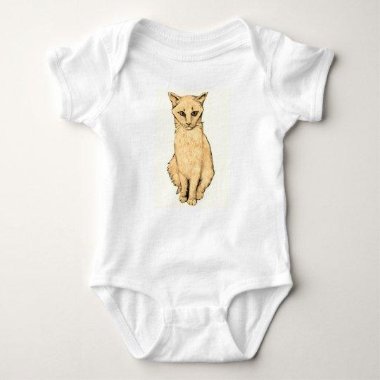 Yellow Cat Baby Bodysuit