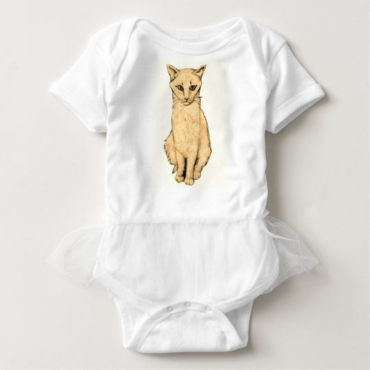 Yellow Cat Baby Bodysuit