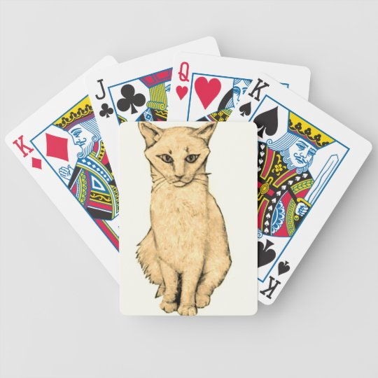 Yellow Cat Bicycle Playing Cards