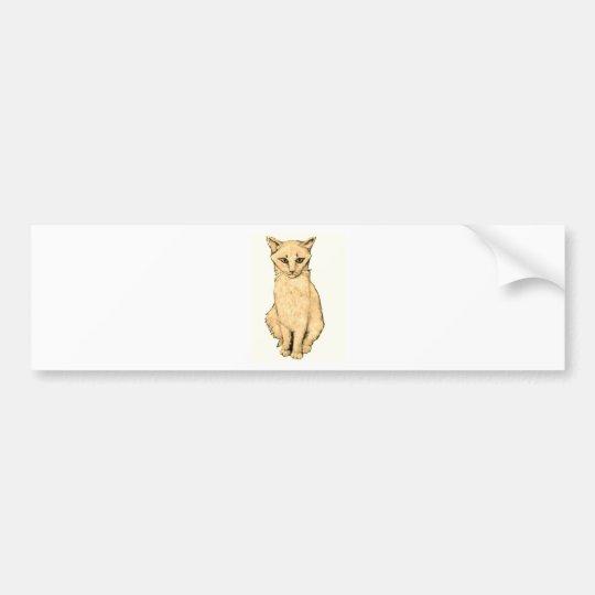 Yellow Cat Bumper Sticker
