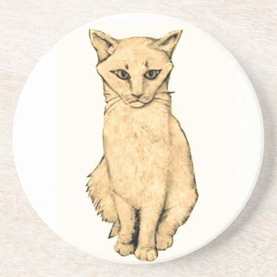 Yellow Cat Coaster