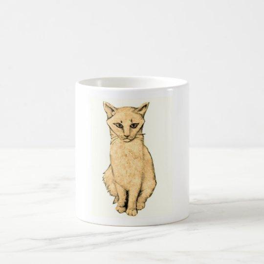 Yellow Cat Coffee Mug