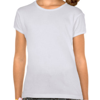 Yellow Cat Design on Girls Fitted T-Shirt