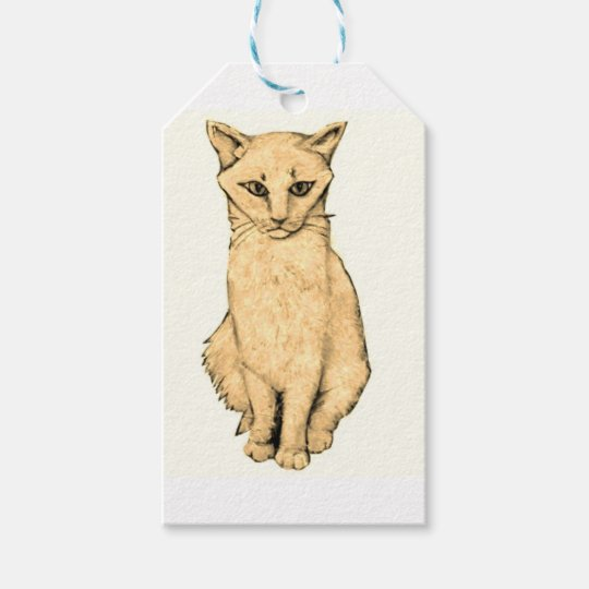 Yellow Cat Gift Tags