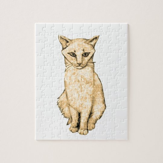 Yellow Cat Jigsaw Puzzle