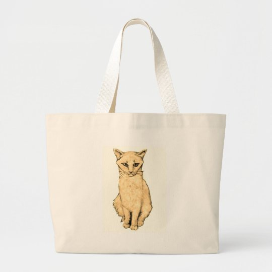 Yellow Cat Large Tote Bag