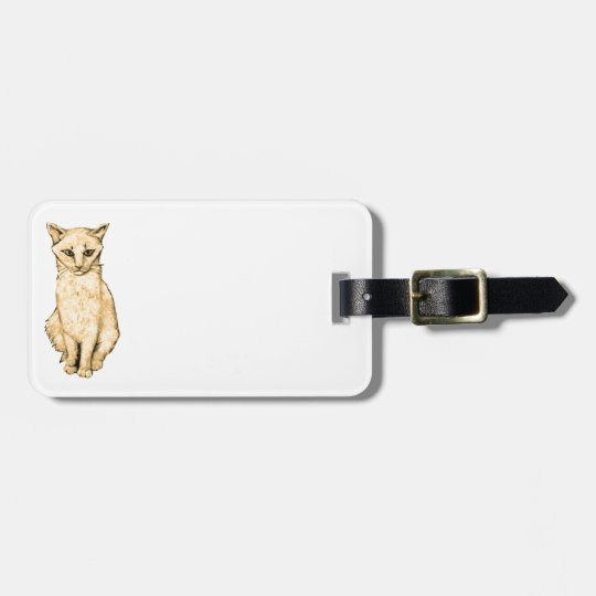 Yellow Cat Luggage Tag