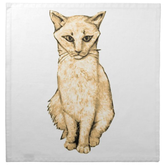 Yellow Cat Napkin