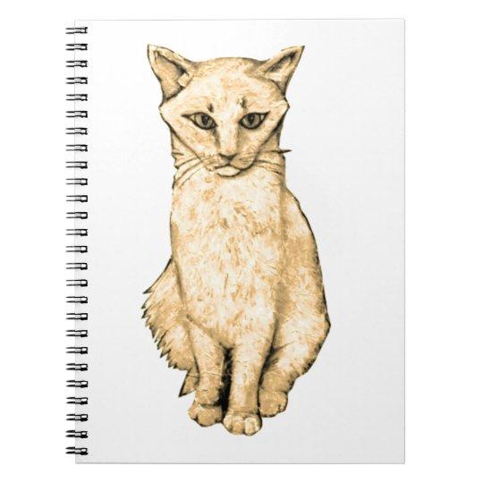 Yellow Cat Notebook