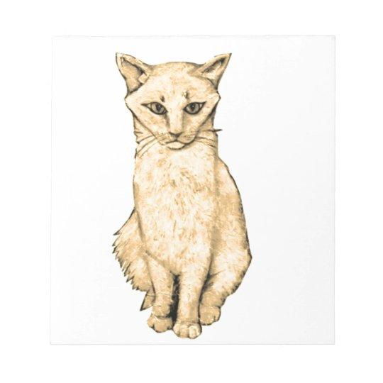 Yellow Cat Notepad