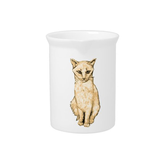 Yellow Cat Pitcher
