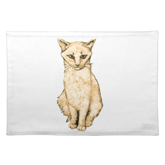 Yellow Cat Placemat