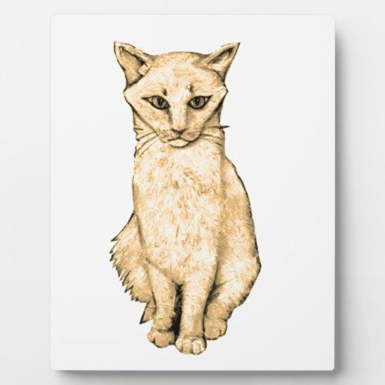 Yellow Cat Plaque