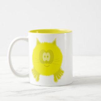 Yellow Cat Pom Pom Pal Mug
