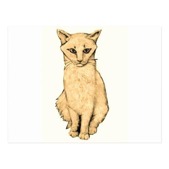 Yellow Cat Postcard