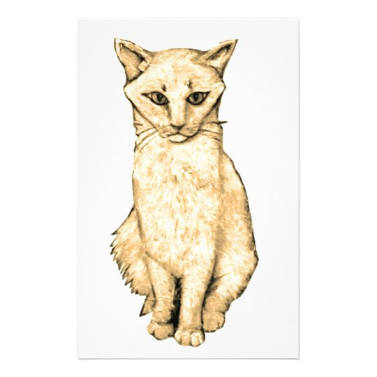 Yellow Cat Stationery