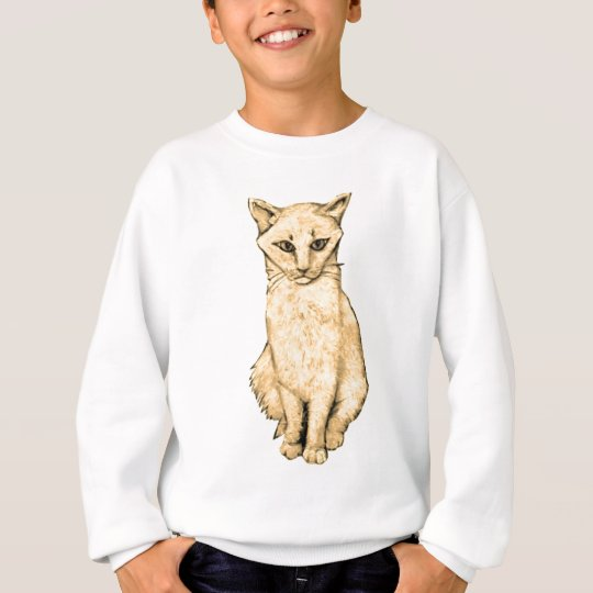 Yellow Cat Sweatshirt