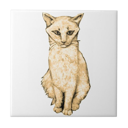 Yellow Cat Tile