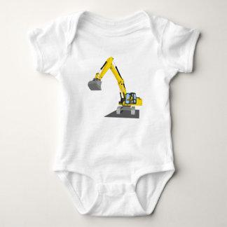 yellow chain excavator baby bodysuit