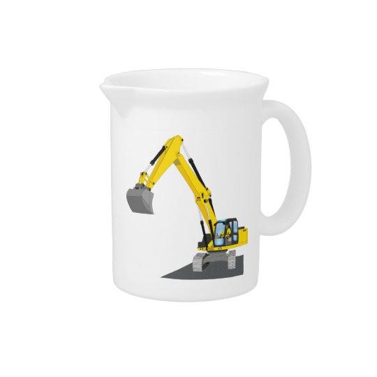 yellow chain excavator drink pitchers