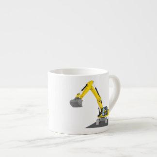 yellow chain excavator espresso cup