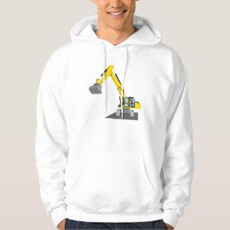 yellow chain excavator hoodie