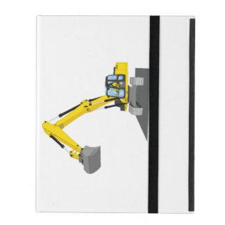 yellow chain excavator iPad cover