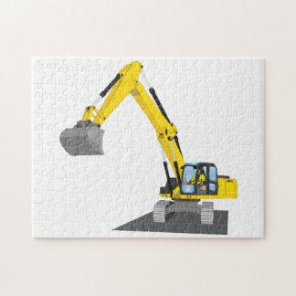 yellow chain excavator jigsaw puzzle