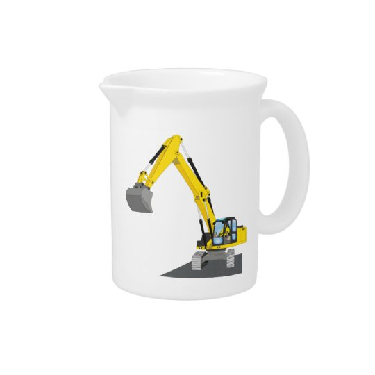 yellow chain excavator pitcher