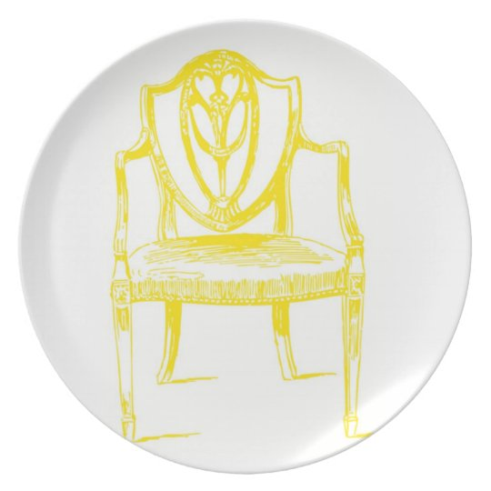 Yellow Chair Plate Louis Louis