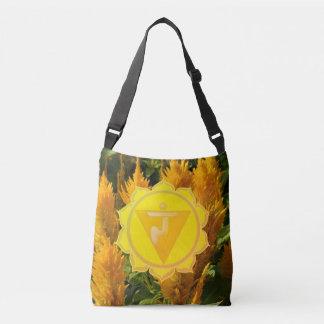 Yellow Chakra Custom All-Over-Print Cross Body Bag