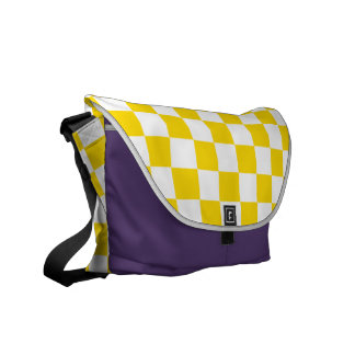 Yellow Checkerboard Commuter Bag