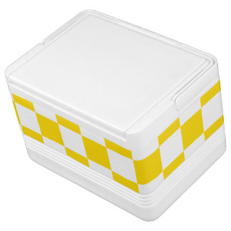 Yellow Checkerboard Cooler