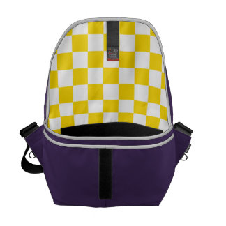 Yellow Checkerboard Courier Bag