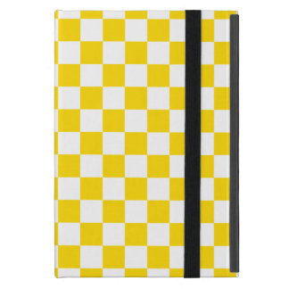 Yellow Checkerboard Cover For iPad Mini
