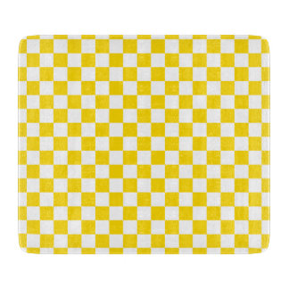 Yellow Checkerboard Cutting Board