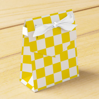 Yellow Checkerboard Favour Boxes