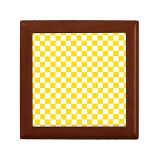 Yellow Checkerboard Gift Box