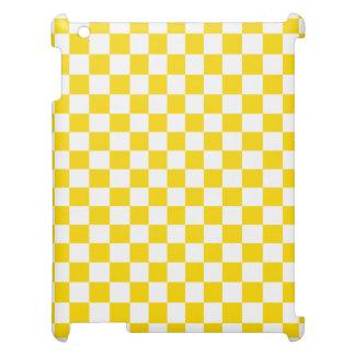 Yellow Checkerboard iPad Case