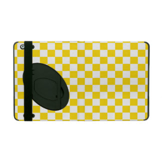 Yellow Checkerboard iPad Cover