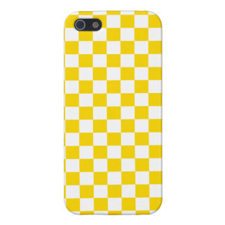 Yellow Checkerboard iPhone 5/5S Cover