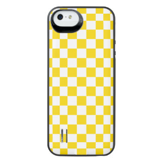 Yellow Checkerboard iPhone SE/5/5s Battery Case